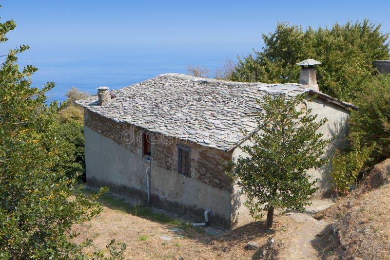 Casa velha tradicional grega fotos de stock