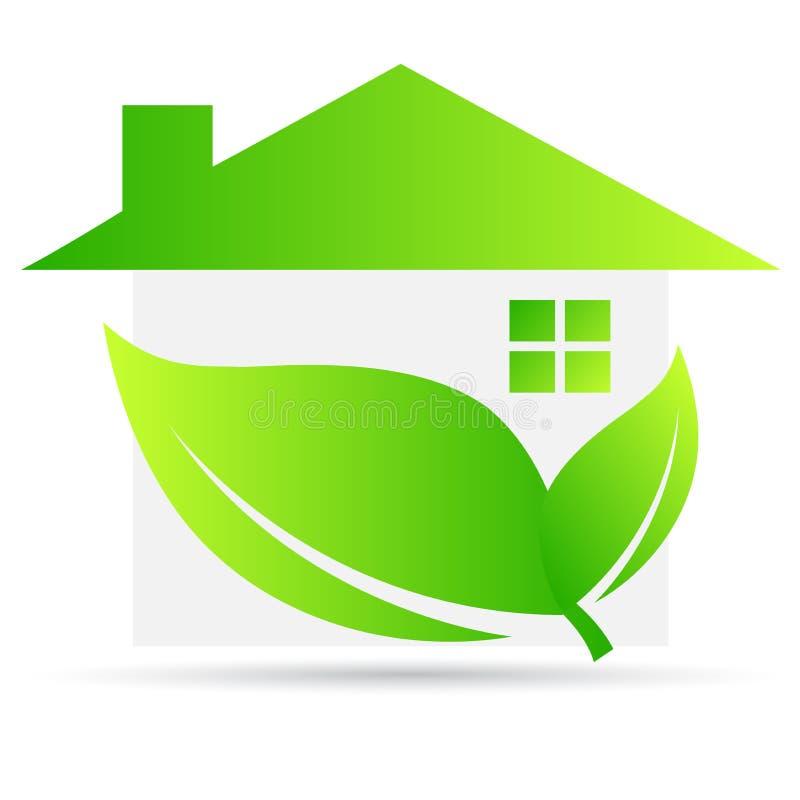 Casa verde ilustração do vetor