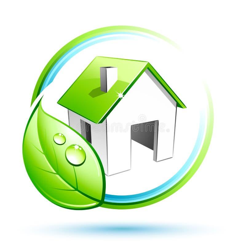 Casa verde ilustração royalty free