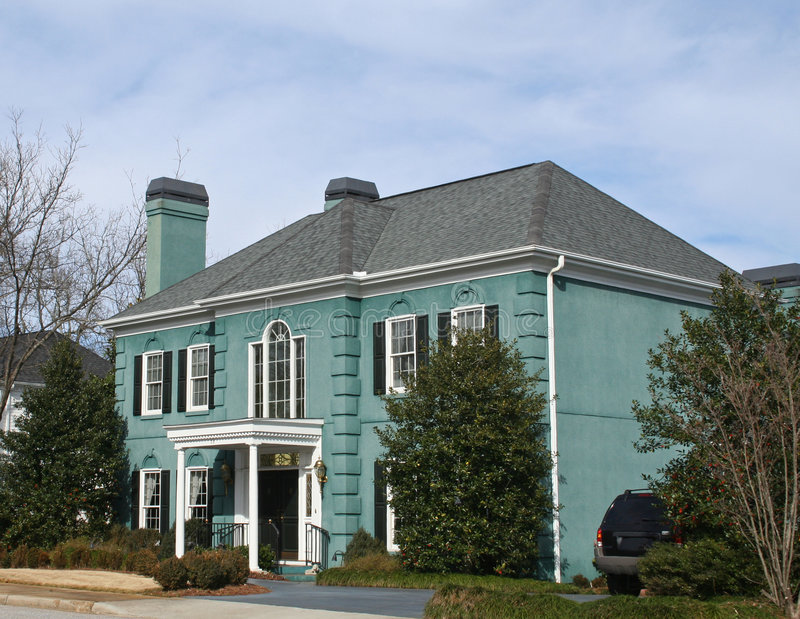 Casa verde americana imagen de archivo