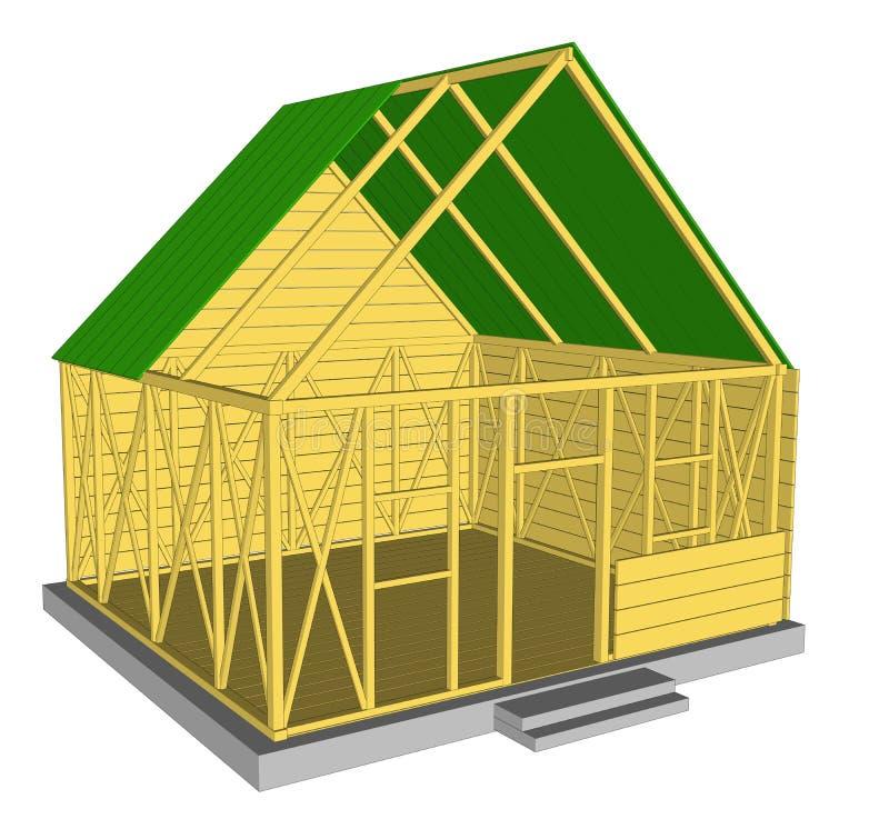 Casa verde da ecologia do vetor ilustração stock