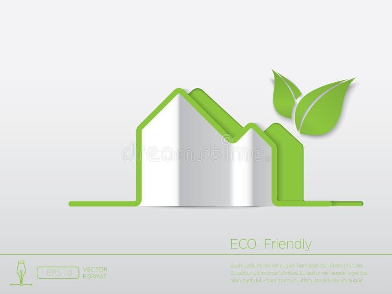 Casa verde de Eco ilustração royalty free