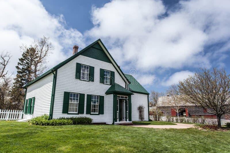 Casa verde de los aguilones imagen de archivo libre de regalías