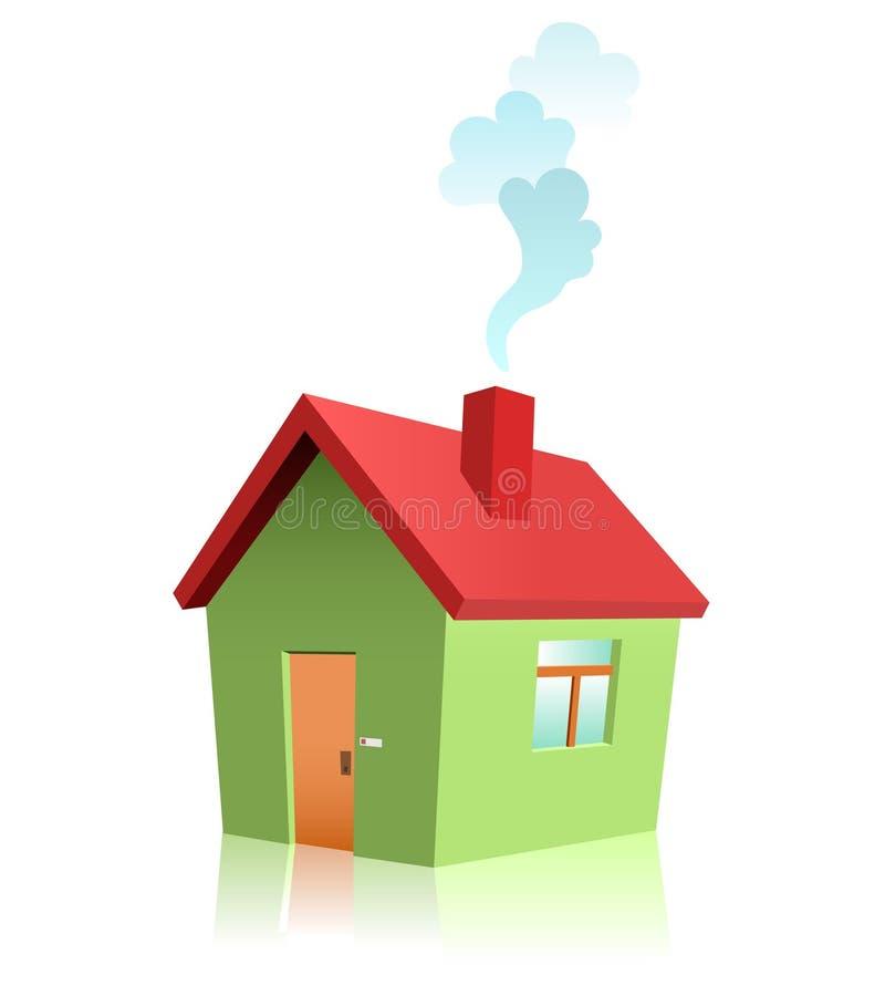 Casa verde del vector ilustración del vector