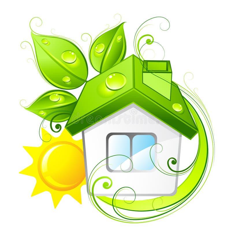Casa verde di eco illustrazione vettoriale illustrazione for Design eco casa verde