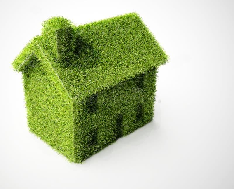 Casa verde isolata di eco royalty illustrazione gratis