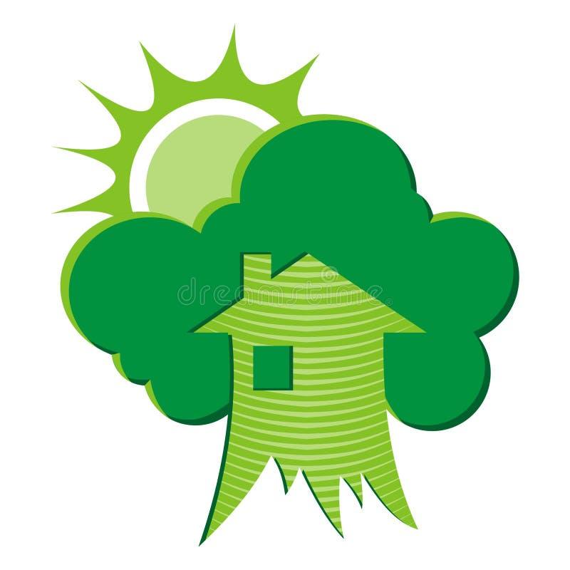 Casa verde (vetor) ilustração royalty free