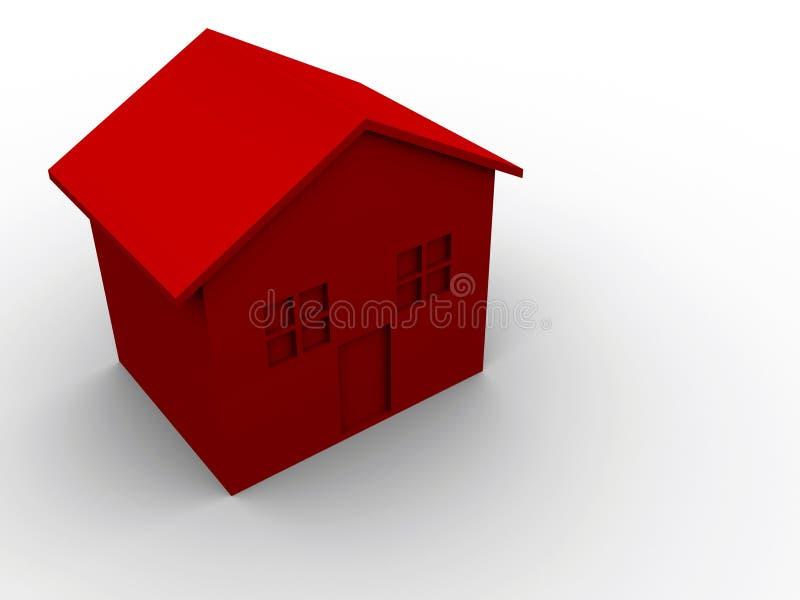 Casa vermelha ilustração royalty free