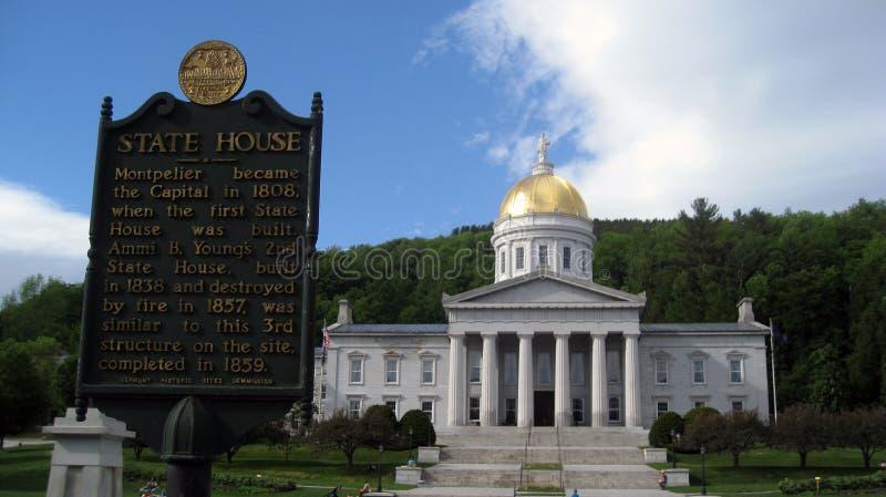 Casa Vermont del estado de Montpelier fotografía de archivo libre de regalías