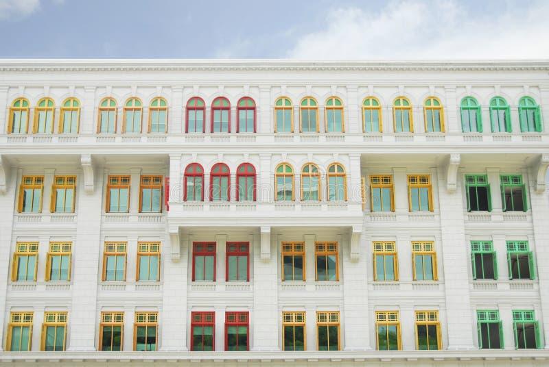 Casa Vibrantly pintada das artes imagens de stock royalty free