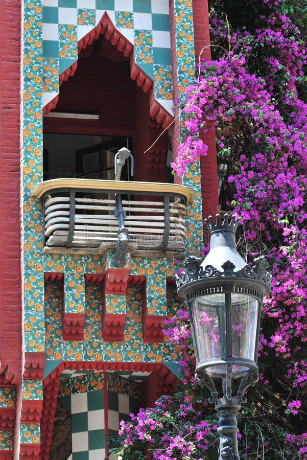 Download Casa Vicens by Gaudi stock photo. Image of detail, catalonia - 15933516