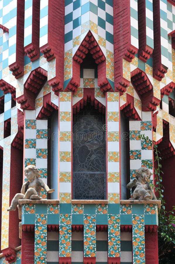 Casa Vicens by Gaudi royalty free stock images
