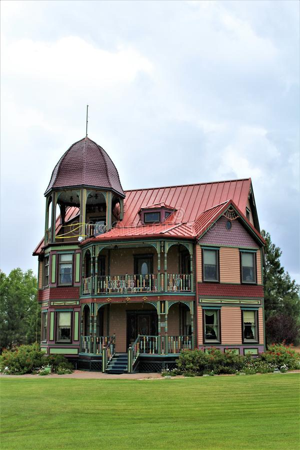 Casa victoriana del estilo, Showlow, Arizona, Estados Unidos fotografía de archivo