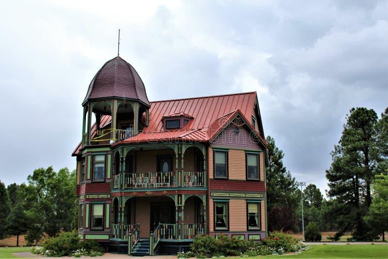 Casa victoriana del estilo, Showlow, Arizona, Estados Unidos fotografía de archivo libre de regalías