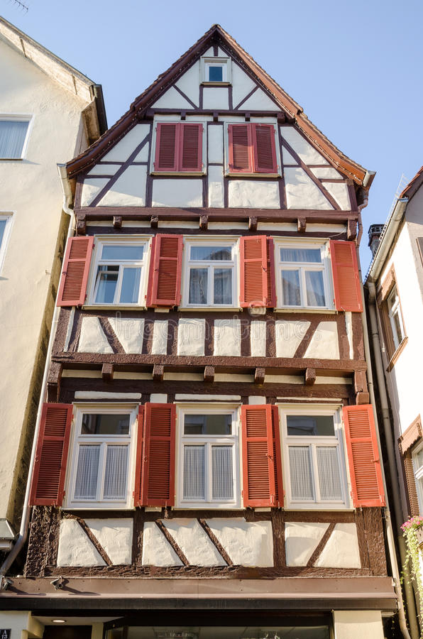 Casa vieja de la ciudad vieja de Tubinga, Alemania imagen de archivo