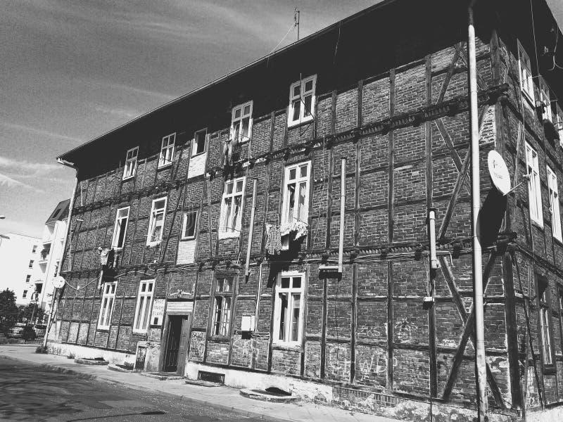 Casa vieja del ladrillo imagen de archivo