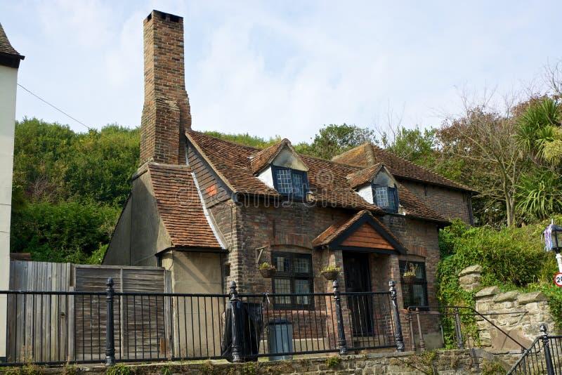 Casa vieja del ladrillo en Hastings, Inglaterra imágenes de archivo libres de regalías
