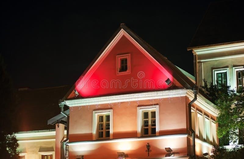 Casa vieja en el centro de Minsk foto de archivo