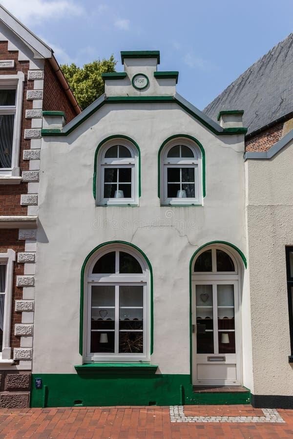 Casa vieja en el centro de Weener, Alemania fotografía de archivo libre de regalías