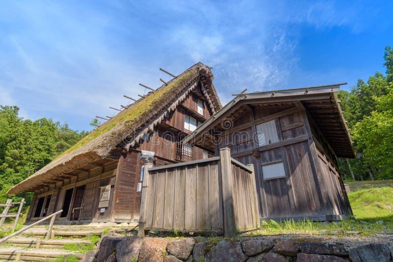 Casa vieja en el pueblo popular de Hida en Takayama fotografía de archivo libre de regalías