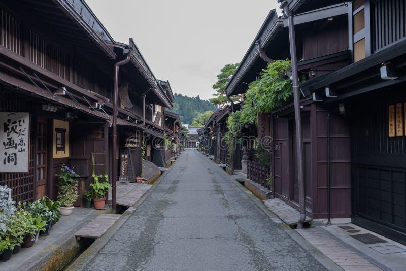 Casa vieja en el pueblo popular de Hida en Takayama, Japón foto de archivo