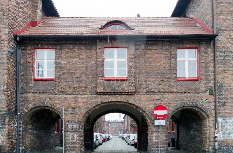 Casa vieja en Katowice, Polonia imagen de archivo