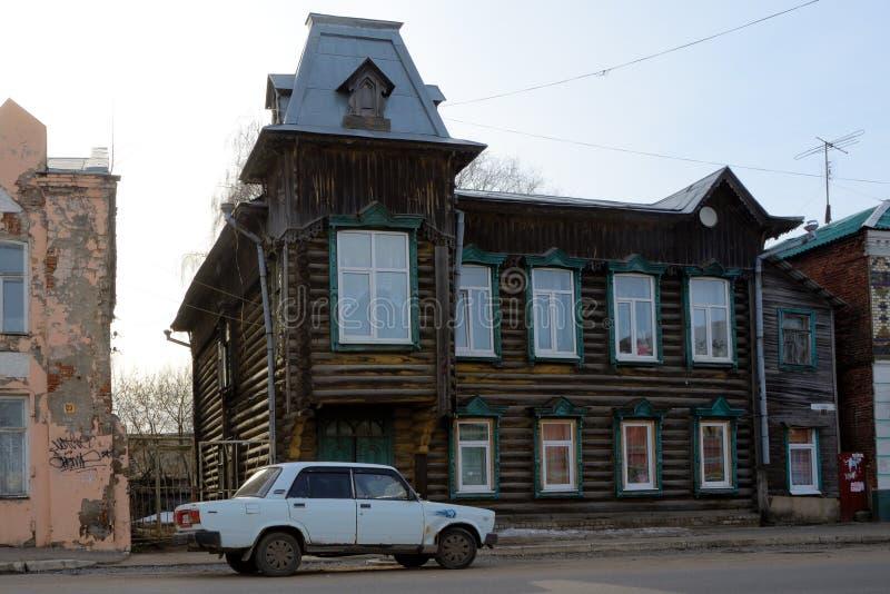 Casa vieja en Kimry imágenes de archivo libres de regalías