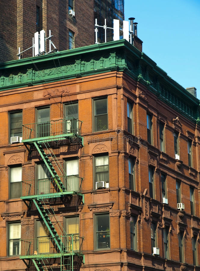 Casa vieja en Manhattan imagen de archivo libre de regalías
