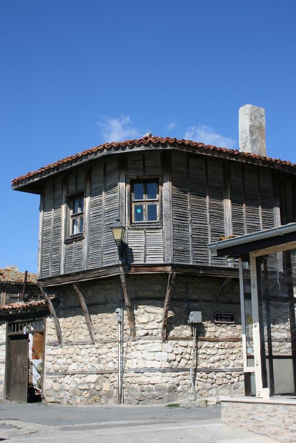 Casa vieja en Nessebar, Bulgaria imagen de archivo libre de regalías