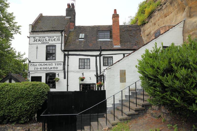 Casa vieja en Nottingham, Reino Unido fotos de archivo libres de regalías