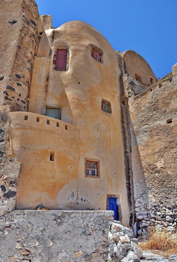 Casa vieja en Santorini foto de archivo libre de regalías
