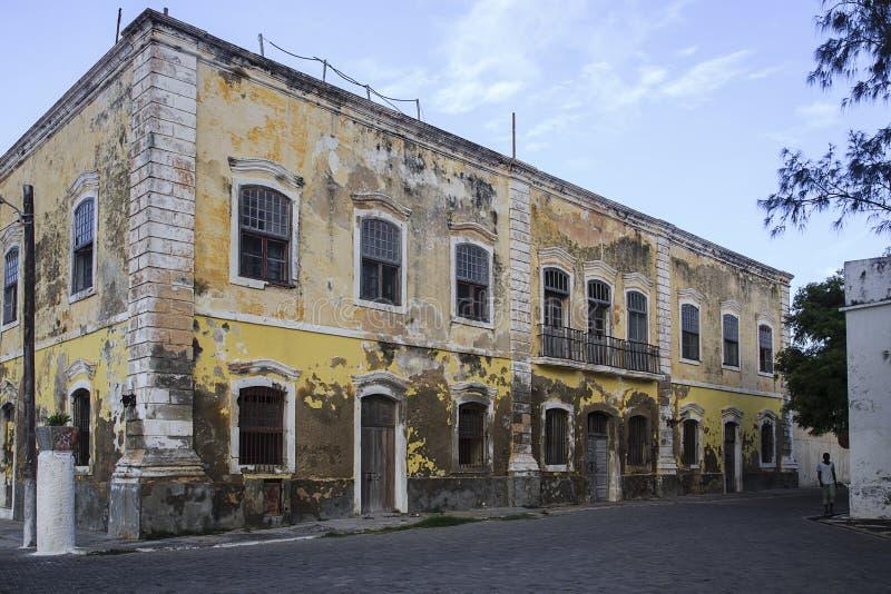 Casa vieja - isla de Mozambique imagenes de archivo