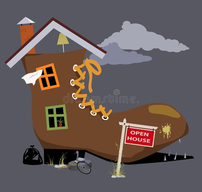 Casa vieja para la venta ilustración del vector