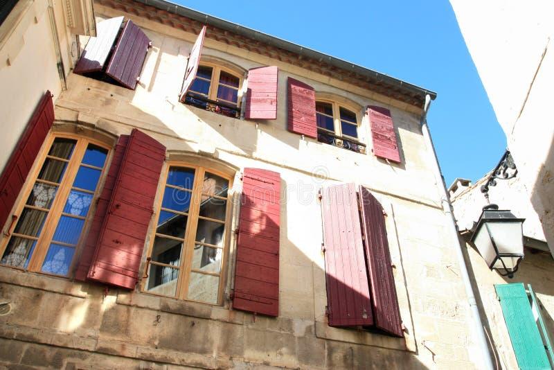 Casa vieja tradicional de Avignon imagen de archivo