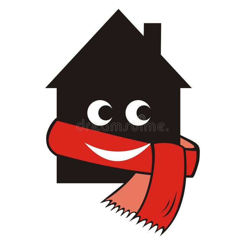 Casa y bufanda ilustración del vector