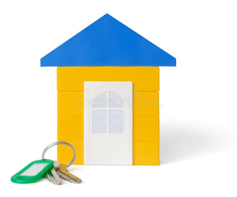 Casa y claves imagenes de archivo