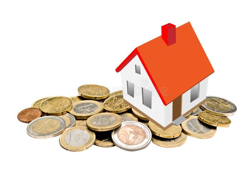 Casa y dinero foto de archivo. Imagen de paying, paga - 16509604