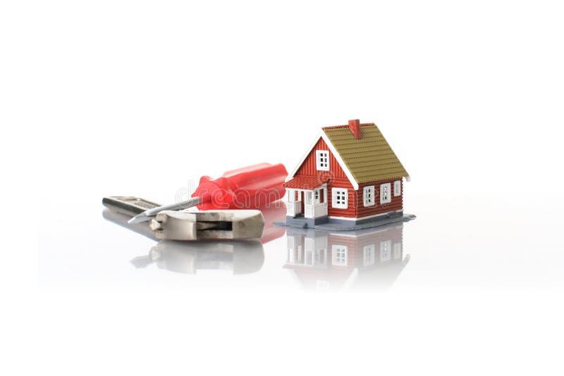 Casa y herramientas. fotos de archivo libres de regalías