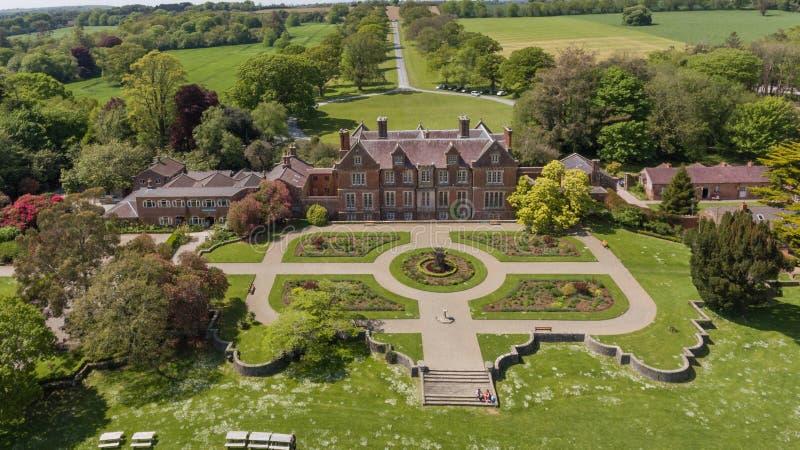 Casa y jardines de Wells Wexford irlanda imagen de archivo