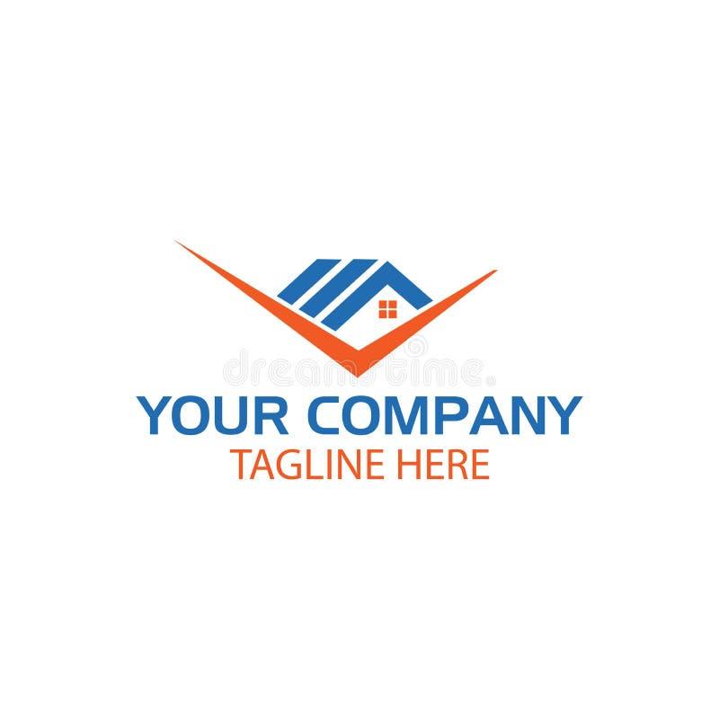 Casa y marca de verificación Logo Template Design Vector libre illustration