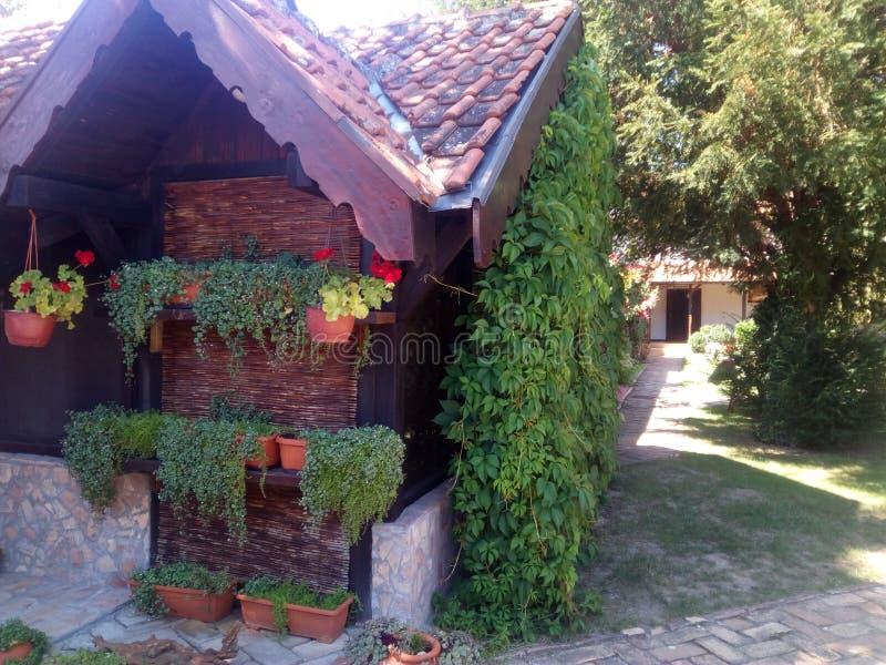 Casa y patio trasero foto de archivo libre de regalías