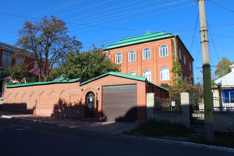 Casa zingaresca, vista della via fotografia stock