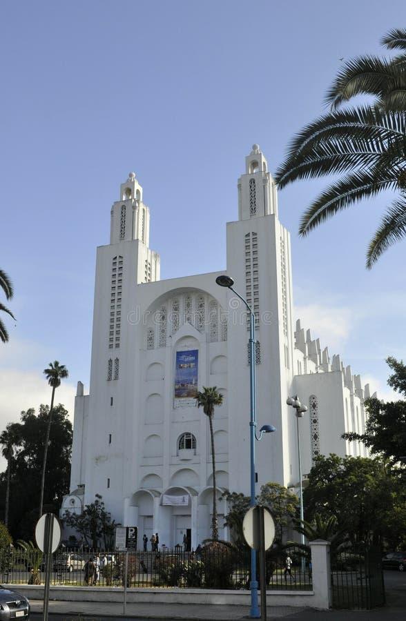 Casablanca Cathedral,April 20,2012 stock photo