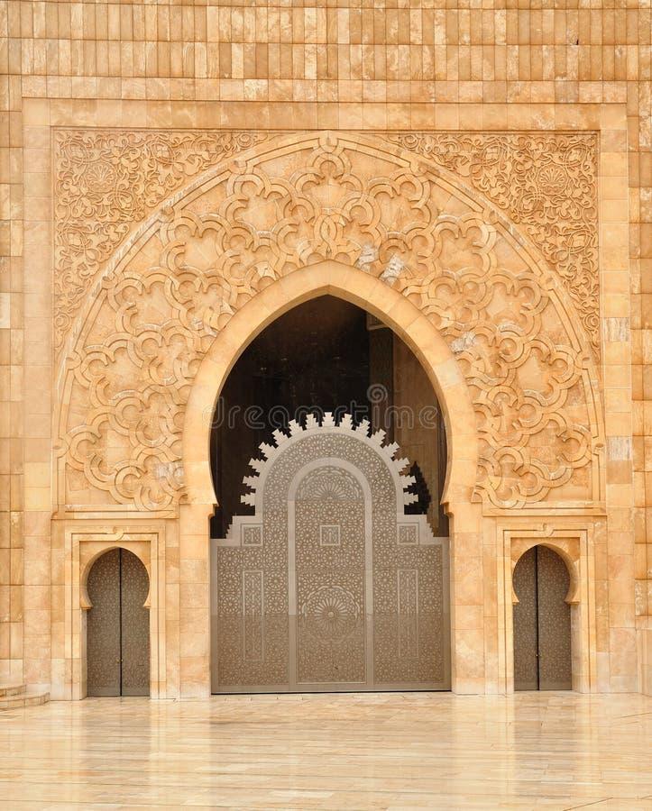 casablanca detaljhassan ii moské arkivbild