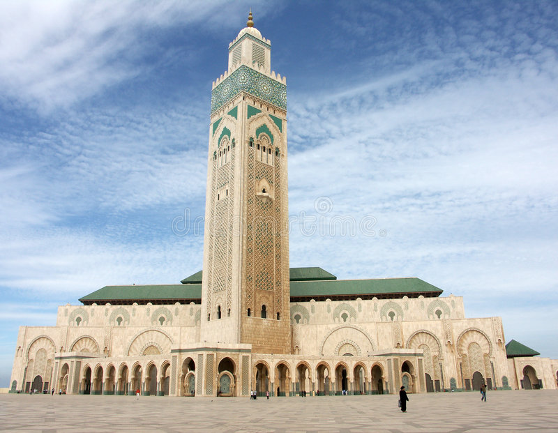 casablanca Hassan ii meczetu obraz stock