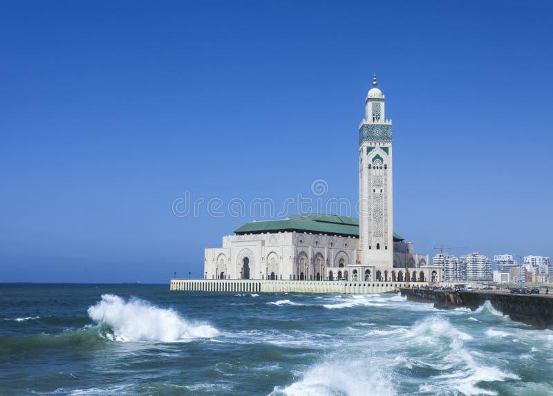 casablanca hassan ii moské royaltyfria bilder