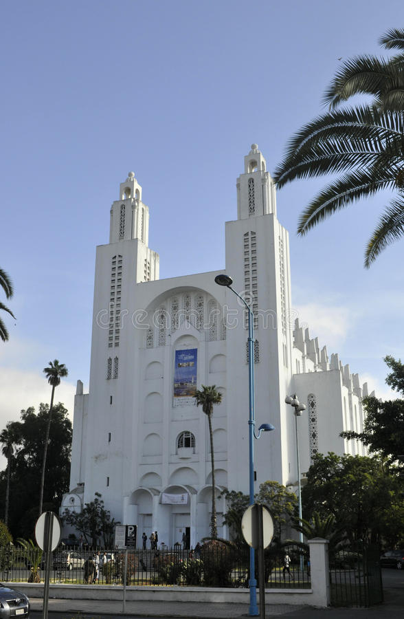 Casablanca-Kathedrale, April 20,2012 stockfoto