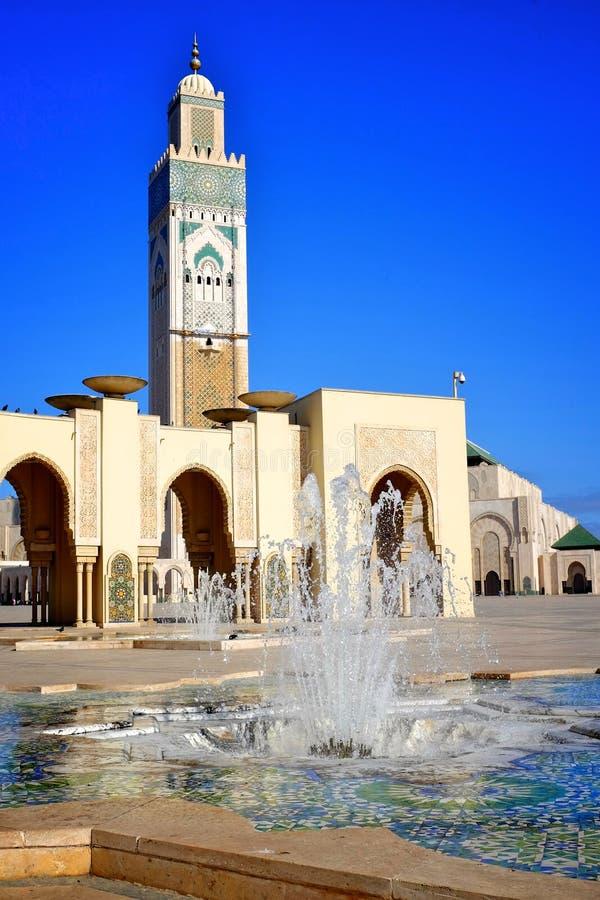 Casablanca królewiątka Hassan meczet zdjęcie stock