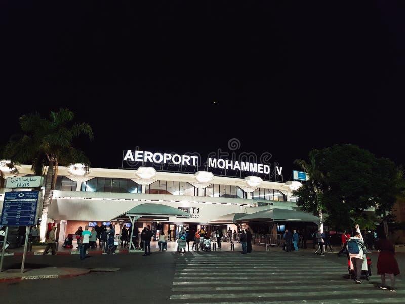 Casablanca Maroc, le 18 octobre 2018, aéroport international de Mohamed V à Casablanca images libres de droits
