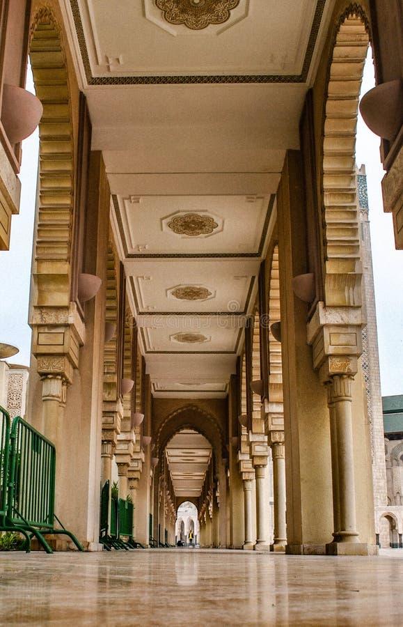Casablanca Maroc Mosquée Hassan II arkivbilder